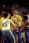 25 MAR 1972:  UCLA center Bill Walton with team mates before the start of the NCAA Final Four National Basketball Championship game with Florida State held in Los Angeles, CA, at the Sports Arena. UCLA defeated Florida State 81-76 to win the title. Walton was named MVP for the tournament. Rich Clarkson/NCAA Photos..SI CD 1646-95