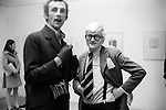 Patrick Proctor and David Hockney. Hockney opening night show Kasmin Gallery Bond Street London. 1969