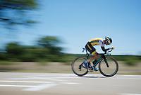 Bert-Jan Lindeman (NLD/LottoNL-Jumbo) speeding along<br /> <br /> stage 13 (ITT): Bourg-Saint-Andeol - Le Caverne de Pont (37.5km)<br /> 103rd Tour de France 2016