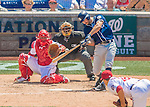 24 July 2016: San Diego Padres infielder Adam Rosales pinch hits against the Washington Nationals at Nationals Park in Washington, DC. The Padres defeated the Nationals 10-6 to take the rubber match of their 3-game, weekend series. Mandatory Credit: Ed Wolfstein Photo *** RAW (NEF) Image File Available ***