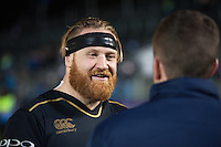 Ross Batty of Bath Rugby is interviewed after the match. European Rugby Challenge Cup match, between Bath Rugby and Cardiff Blues on December 15, 2016 at the Recreation Ground in Bath, England. Photo by: Patrick Khachfe / Onside Images