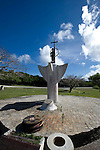Photo shows a memorial to the thousands of Japanese citizens who jumped to their deaths off Suicide and  Banzai Cliffs in Saipan on 22 February 2011. Sensing defeat, Japanese citizens living on Saipan were ordered by imperial decree to take their own lives by leaping from the cliffs..Photographer: Robert Gilhooly