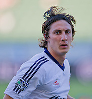 CARSON, CA - July 7, 2012: Chivas USA midfielder Ben Zemanski (21) prior to the Chivas USA vs Vancouver Whitecaps FC match at the Home Depot Center in Carson, California. Final score Vancouver Whitecaps FC 0, Chivas USA 0.