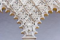 marble work, Patio de las Doncellas, Real Alcazar, Sevilla, Spain