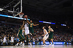 MILWAUKEE, WI - MARCH 16:  Purdue Boilermakers forward Caleb Swanigan (50) and Vermont Catamounts forward Darren Payen (12) fight for a rebound during the second half of the 2017 NCAA Men's Basketball Tournament held at BMO Harris Bradley Center on March 16, 2017 in Milwaukee, Wisconsin. (Photo by Jamie Schwaberow/NCAA Photos via Getty Images)