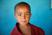 Monk at Likir Monastery, Ladakh, India, 2010.