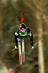 15 January 2005 - Lake Placid, New York, USA - Elisa Kurylowicz representing Canada, competes in the FIS World Cup Ladies' Moguls Freestyle ski competition, ranking 7th for the day, at Whiteface Mountain, Lake Placid, NY. ..Mandatory Credit: Ed Wolfstein Photo.