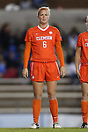 20 October 2013: Clemson's Savannah Coiner. The University of North Carolina Tar Heels hosted the University of Virginia Cavaliers at Fetzer Field in Chapel Hill, NC in a 2013 NCAA Division I Women's Soccer match. North Carolina won the game 2-0.