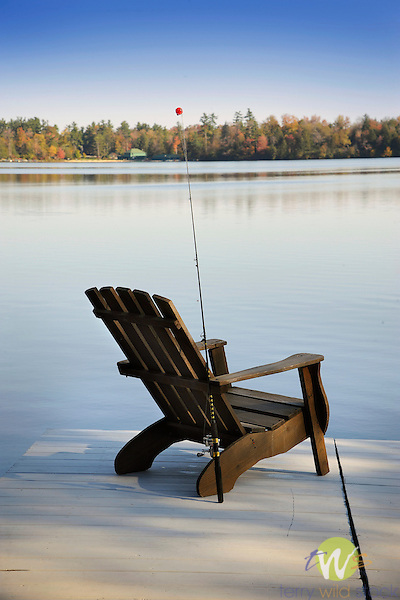 Eagles Mere Pa Wetzels Dock And Adirondack Chair