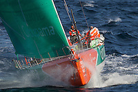 FRANCE,  Point Penmarc'h. 1st July 2012. Volvo Ocean Race, Leg 9 Lorient-Galway.  Groupama Sailing Team.