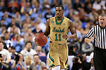 14 March 2015: Notre Dame's Demetrius Jackson. The Notre Dame Fighting Irish played the University of North Carolina Tar Heels in an NCAA Division I Men's basketball game at the Greensboro Coliseum in Greensboro, North Carolina in the ACC Men's Basketball Tournament quarterfinal game. Notre Dame won the game 90-82.