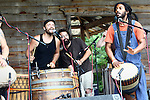 Psalters, a band from Philadelphia, plays at the Wild Goose Festival at Shakori Hills in North Carolina June 23, 2011.  (Photo by Courtney Perry)