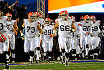 17 November 2008:  Member of the Cleveland Browns take the field prior to facing the  Buffalo Bills at Ralph Wilson Stadium in Orchard Park, NY. The Browns defeated the Bills 29-27 in the Monday Night AFC matchup. *** Editorial Sales Only ****..Mandatory Photo Credit: Ed Wolfstein Photo