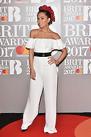 Myleene Klass<br /> The Brit Awards at the o2 Arena, Greenwich, London, England on February 22, 2017.<br /> CAP/PL<br /> &copy;Phil Loftus/Capital Pictures /MediaPunch ***NORTH AND SOUTH AMERICAS ONLY***