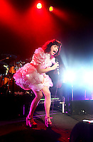 SYDNEY, AUSTRALIA - SEPTEMBER 16:  Kimbra performs live on stage at the Metro on September 16, 2011 in Sydney, Australia.  (Photo by Marianna Massey/Getty Images) *** Local Caption *** Kimbra