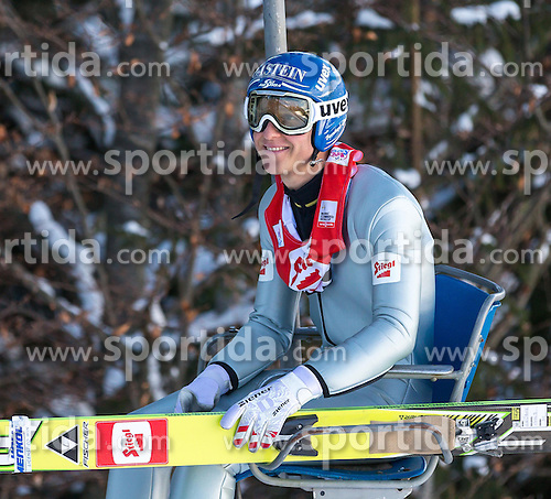 19.01.2013, Casino Arena, Seefeld, AUT, FIS Nordische Kombination, Skisprung, Probedurchgang, im Bild Bernhard Gruber (AUT) // Bernhard Gruber of Austria  during the Trial Round of Ski Jumping at FIS Nordic Combined World Cup in Sefeld, Austria on 2013/01/19. EXPA Pictures © 2013, PhotoCredit: EXPA/ Peter Rinderer