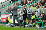 Hibs v St Johnstone...25.08.12   SPL.A furious Steve Lomas.Picture by Graeme Hart..Copyright Perthshire Picture Agency.Tel: 01738 623350  Mobile: 07990 594431