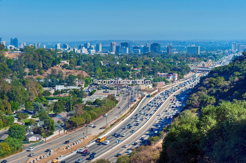 Los Angeles, CA, Interstate, 405, Freeway, Sepulveda pass,