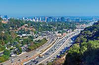 Los Angeles, CA, Interstate, 405, Freeway, Sepulveda pass,