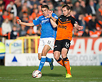Dundee United v St Johnstone...27.09.14  SPFL<br /> Adam Morgan and Callum Morris<br /> Picture by Graeme Hart.<br /> Copyright Perthshire Picture Agency<br /> Tel: 01738 623350  Mobile: 07990 594431