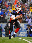23 December 2007: Buffalo Bills quarterback Trent Edwards looks downfield for an open receiver against the New York Giants at Ralph Wilson Stadium in Orchard Park, NY. The Giants defeated the Bills 38-21. ..Mandatory Photo Credit: Ed Wolfstein Photo