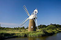 Windmill maintained by How Hill Trust on the River Ant, Norfolk Broads, United Kingdom RESERVED USE - NOT FOR DOWNLOAD -  FOR USE CONTACT TIM GRAHAM