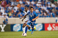 El Salvador midfielder Andres Flores (12) during a CONCACAF Gold Cup group B match at Red Bull Arena in Harrison, NJ, on July 8, 2013.