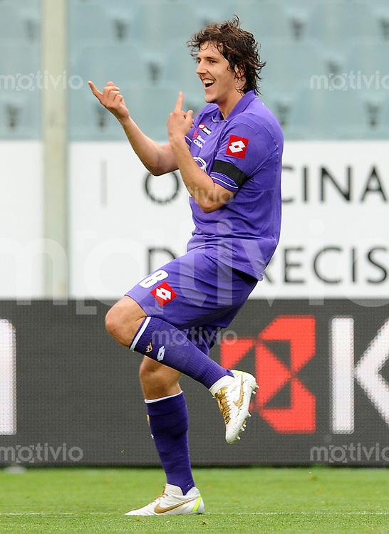 FUSSBALL INTERNATIONAL   SERIE A   SAISON 2011/2012    AC Florenz - AS Rom   04.12.2011 JUBEL Stevan Jovetic (AC Florenz)
