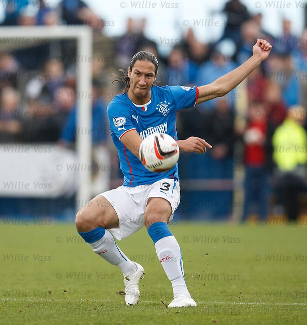 Bilel Mohsni coaxes the ball up the park