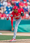13 March 2016: St. Louis Cardinals pitcher Sandy Alcantara, ranked the 19th Top Prospect in the Cardinals organization for 2016 by MLB, on the mound during a pre-season Spring Training game against the Washington Nationals at Space Coast Stadium in Viera, Florida. The teams played to a 4-4 draw in Grapefruit League play. Mandatory Credit: Ed Wolfstein Photo *** RAW (NEF) Image File Available ***