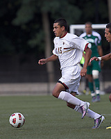 Boston College forward/midfielder Diego Medina-Mendez (15) on the attack. Boston College defeated George Mason University, 3-2, at Newton Soccer Field, August 26, 2011.