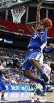 Terrence Jones goes to dunk the ball in the c hampionship of the 2011 SEC Men's Basketball Tournament between Kentucky and Florida, played at the Georgia Dome, Sunday, March 13, 2011.  Photo by Latara Appleby | Staff