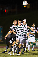 Number 8 ranked Charlotte beats number 16 ranked Coastal Carolina 1-0 on a goal by Thomas Allen in the 101st minute during the second overtime.  Owen Darby (7), Alan Kirkbride (8), Kjartan Sigurdsson (4)
