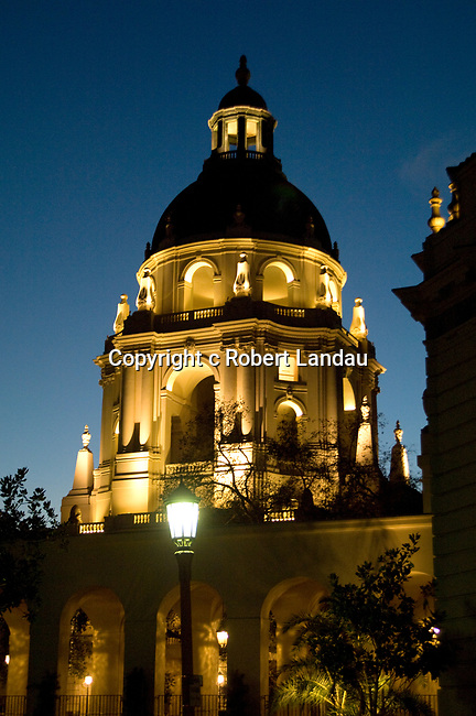 Pasadena City Hall at night