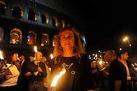 Roma 24 Settembre 2009.Manifestazione di protesta contro il razzismo e l'intolleranza in  seguito ai recenti episodi  di violenza contro i gay a Roma. Rome 24 September 2009.Protest against racism and intolerance following of recent incidents of violence against gays in Rome .Vladimir Luxuria