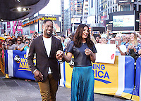 NEW YORK, NY-September 23: Blair Underwood and Priyanka Chopra at Good Morning America  to talk about new season of Quantico in New York. September 23, 2016. Credit:RW/MediaPunch