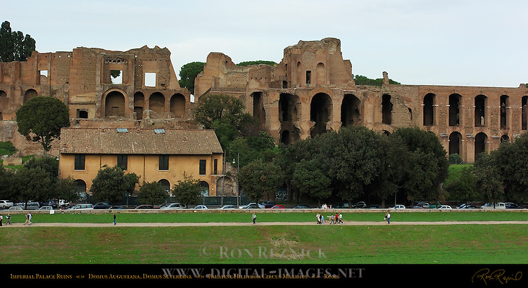 Imperial Palaces Domus Augustana Domus Severiana Palatine Hill from Circus Maximus Rome