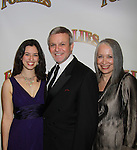 Opening Night - Guiding Light Ron Raines poses with his wife Dona and daughter Charlotte on opening night as he stars in Follies, a James Goldman & Stephen Sondheim's classic musical on September 12, 2011 at the Marquis Theatre, New York City, New York. (Photo by  Sue Coflin/Max Photos