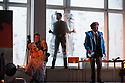 English National Opera presents, in a co-production with Dutch National Opera, Amsterdam, Puccini's LA BOHEME, at the London Coliseum. Picture shows: Duncan Rock (Marcello), Zach Borichevsky (Rodolfo), Simon Butteriss (Benoit)