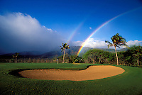Double rainbow at Waiehu Golf Course, Maui.