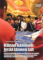 Full-page in Talouselama, weekly magazine in Finland, on September 17, 2010. Photo by Lucas Schifres