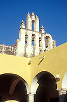Spanish colonial church bells in the city of Campeche, Mexico