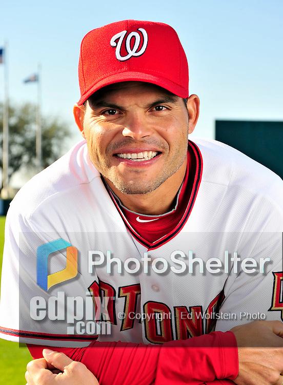 28 February 2010: Washington Nationals catcher Ivan Rodriguez poses for his Spring Training photo at - Ivan-Rodriguez-7936