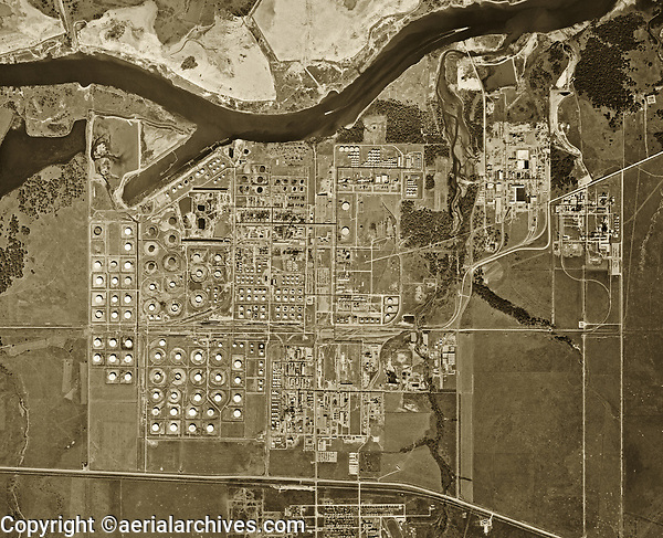 historical aerial photograph Port of Houston, Texas, 1953