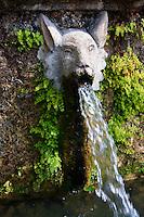 Hundred Fountains, 1569, Villa d'Este, Tivoli, Italy - Unesco World Heritage Site.