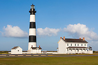 An afternoon view of the Bodie Island Lighthouse in Nags Head in the Outer Banks of North Carolina.