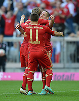 FUSSBALL   1. BUNDESLIGA  SAISON 2012/2013   7. Spieltag FC Bayern Muenchen - TSG Hoffenheim    06.10.2012 Jubel nach dem Tor zum 2:0 Xherdan Shaqiri und Franck Ribery (v. li., FC Bayern Muenchen)