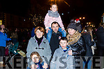 Enjoying the switching on of the christmas lights in Castleisland on Saturday were Eileen O'Connor, Abbie O'Connor, Sean O'Connor, John O'Connor, Amy O'Connor and Pamela Kinahan