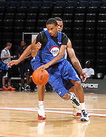 Charles Trotter at the NBPA Top100 camp at the John Paul Jones Arena Charlottesville, VA. Visit www.nbpatop100.blogspot.com for more photos. (Photo © Andrew Shurtleff)