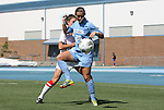 28 August 2011: North Carolina's Alyssa Rich (00) and Houston's Stephanie Derieg (behind). The University of North Carolina Tar Heels defeated the University of Houston Cougars 6-1 at Fetzer Field in Chapel Hill, North Carolina in an NCAA Women's Soccer game.